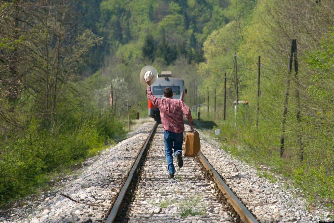 A punto de perder el tren